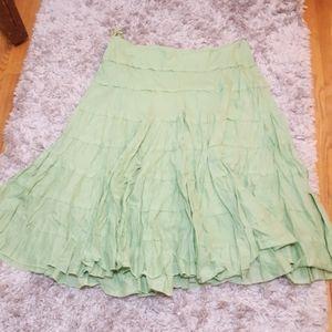 Lightweight Light Green Bohemian Skirt